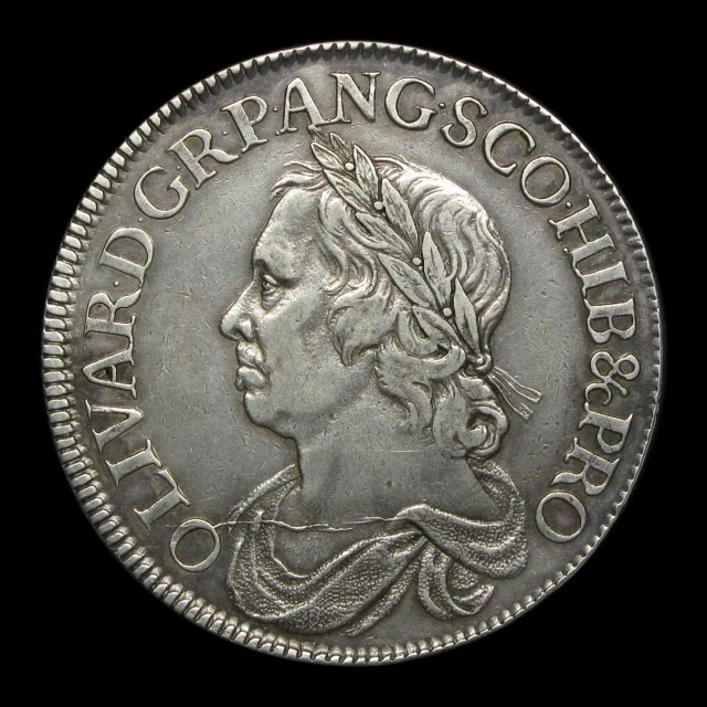 Oliver Cromwell Silver Crown Amr Coins