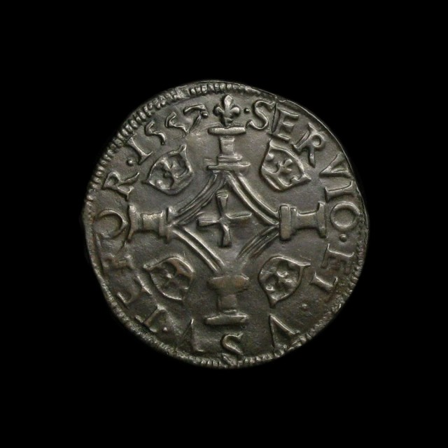 Mary Queen Of Scots 1542 67 Billon Plack Amr Coins