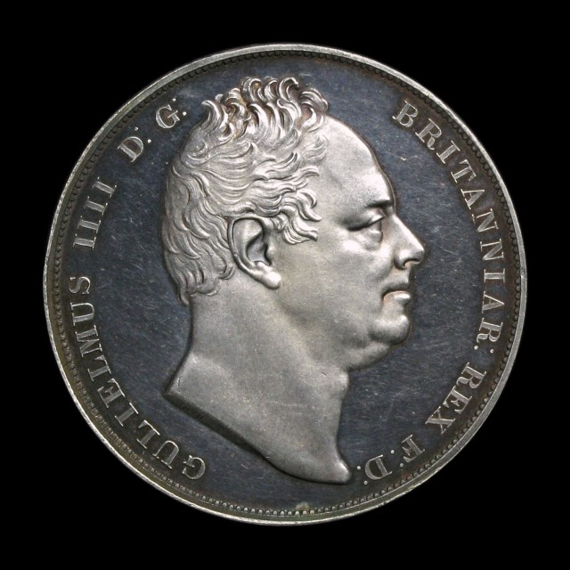 William IV (1830-1837) - Silver Proof Crown   AMR Coins
