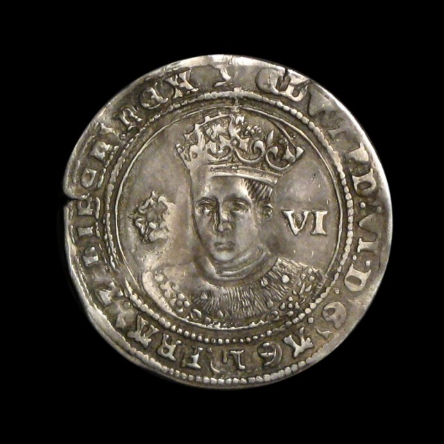 Edward Vi 1547 1553 Silver Sixpence Amr Coins