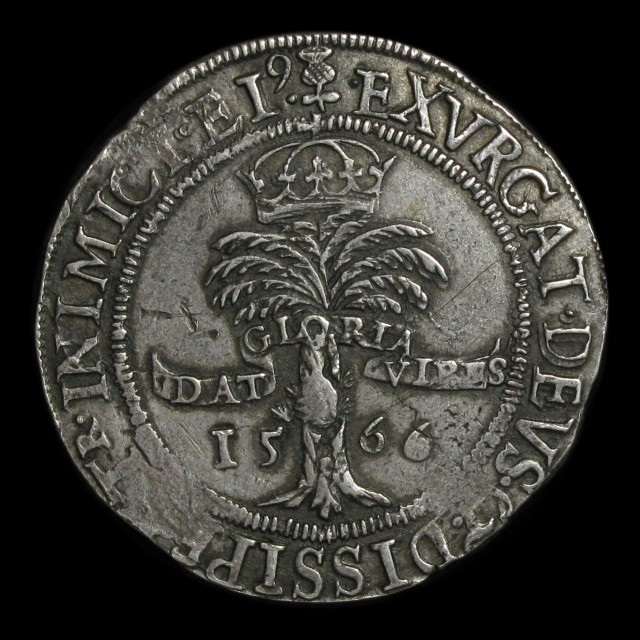 Mary Queen Of Scots 1542 1567 Silver Two Thirds Ryal