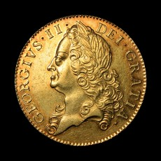 George II five guineas obverse