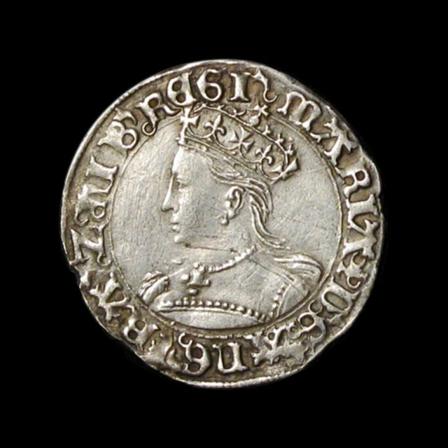 Mary 1553 1554 Silver Groat Amr Coins